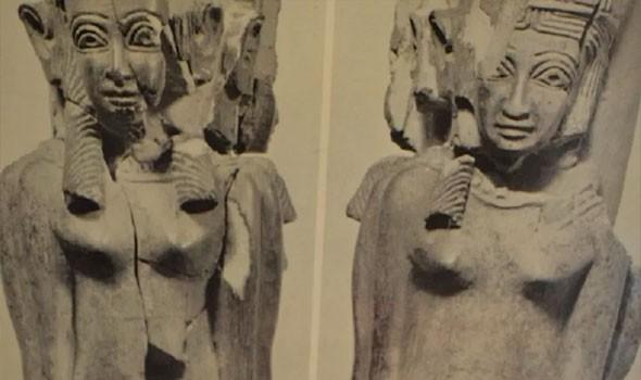 نحات يستثمر أوقات الحظر ويصنع تمثالين لأشهر ملوك العراق