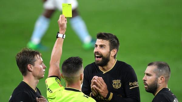"""بدء تحقيق مع بيكيه بسبب تعليقات """"مجاملة"""" الحكام لريال مدريد"""