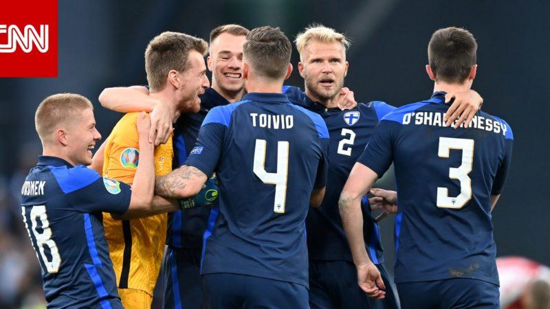 من تسديدة وحيدة خلال المباراة.. منتخب فنلندا يسجل هدف الفوز على الدنمارك بعد حادث درامي