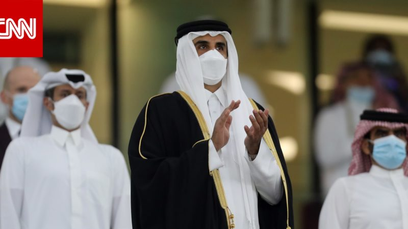 أول تعليق من أمير قطر على إحراز فارس حسونة أول ذهبية أولمبية
