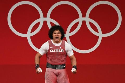 الرباع فارس حسونة يهدي قطر أول ذهبية في تاريخها