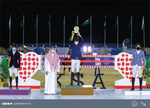 آل هادي يتألق في سباق كأس اليوم الوطني لقفز الحواجز